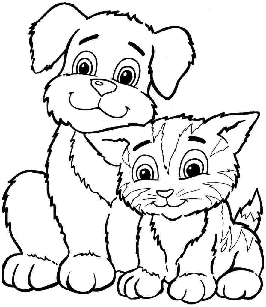 Coloring Sheets Animal Dogs Printable Free For Kids & Boys 8106 - Free Printable Animal Coloring Pages