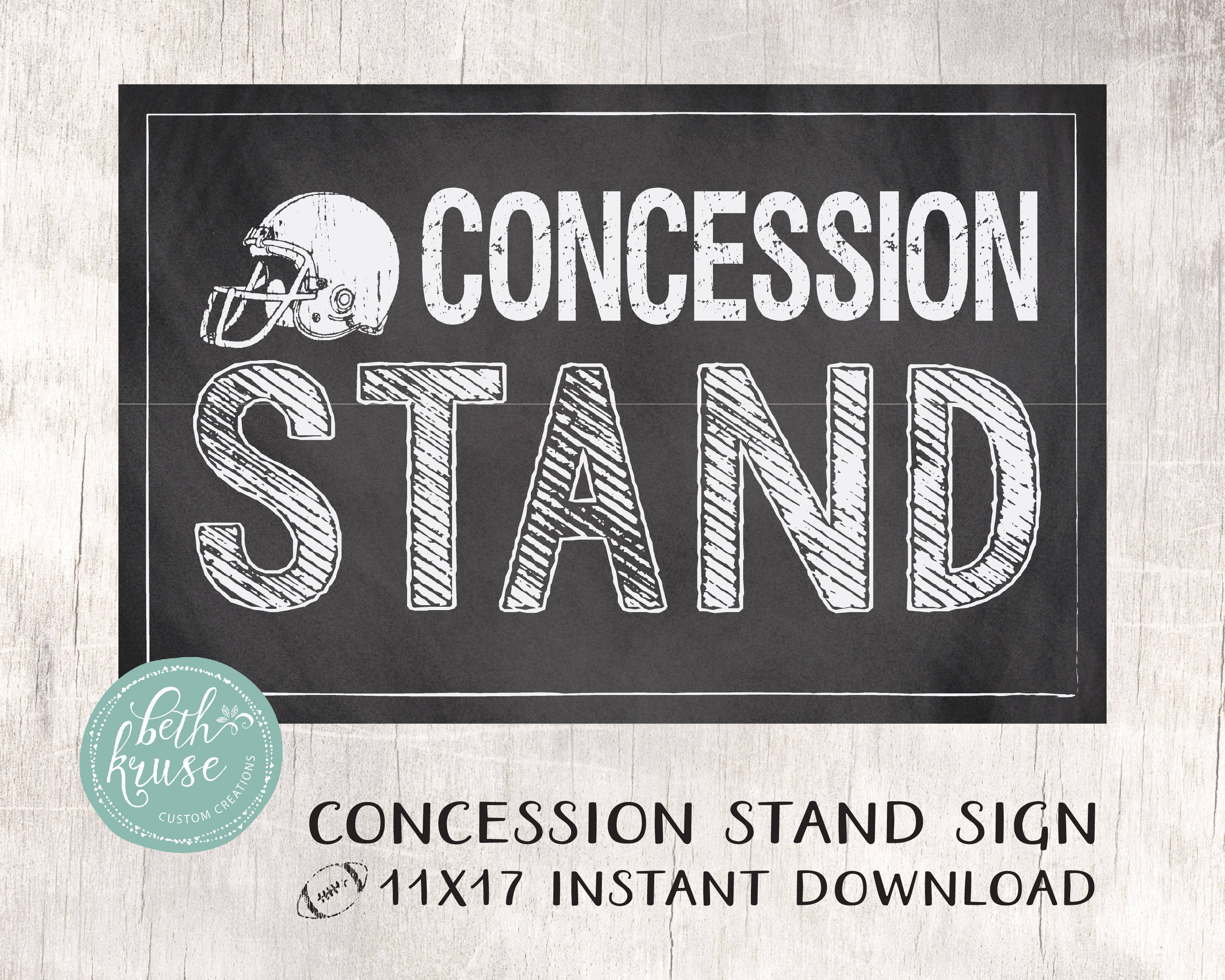Concession Stand 11X17 Printable Sign Instant Download | Etsy - Free Concessions Printable