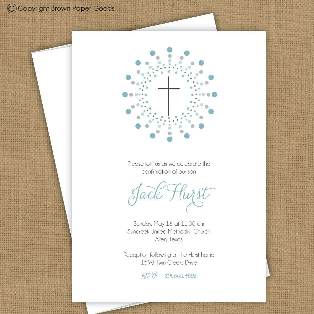Confirmation Invitation Template | Confirmation Template | Communion - Free Printable First Communion Invitation Templates