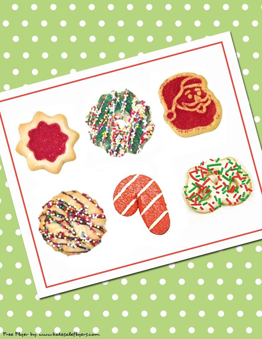 Cookie Exchange Invitations   Bake Sale Flyers – Free Flyer Designs - Free Christmas Cookie Exchange Printable Invitation