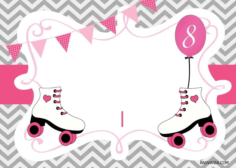 Cool Free Printable Ice Skating Birthday Invitations Template - Free Printable Skating Invitations