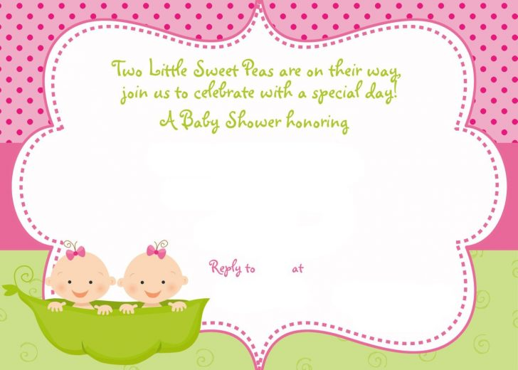 Free Printable Twin Baby Shower Invitations