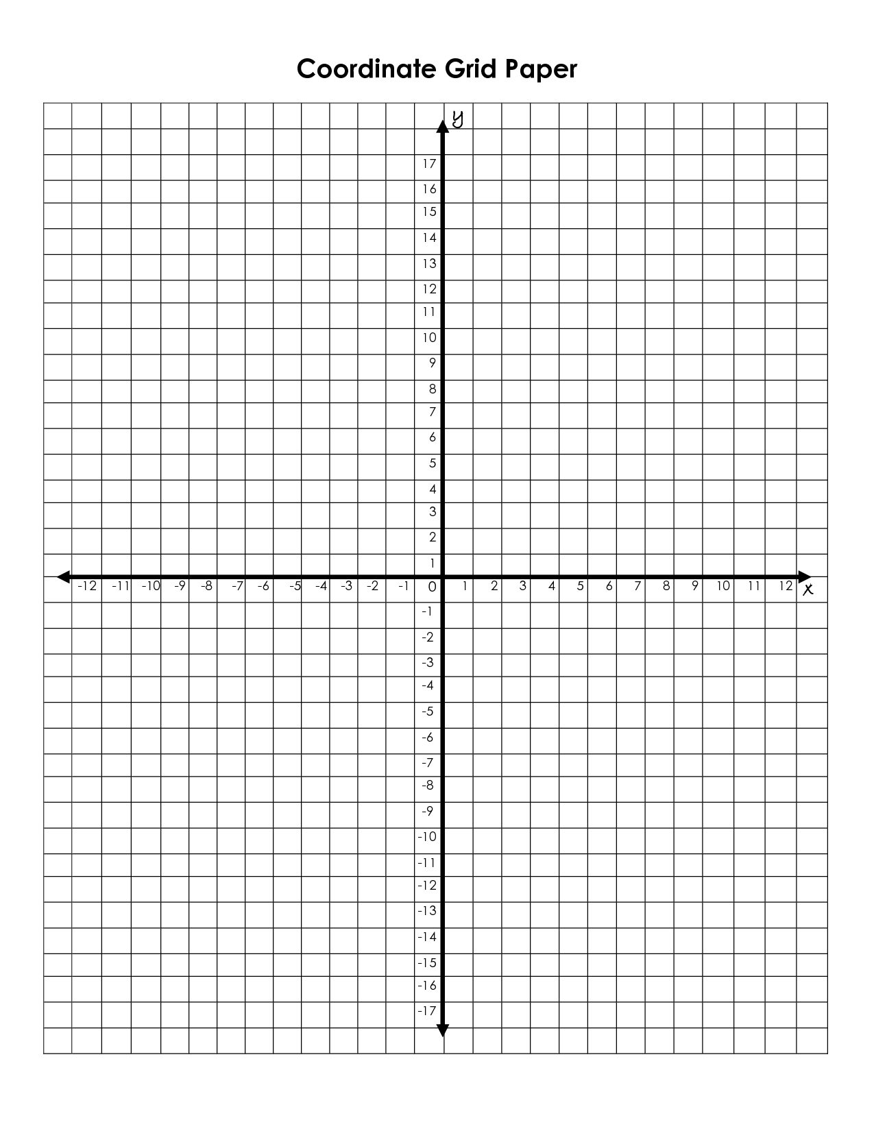 Coordinate+Grid+Graph+Paper+Printable | Math | Printable Graph Paper - Free Printable Coordinate Plane Pictures