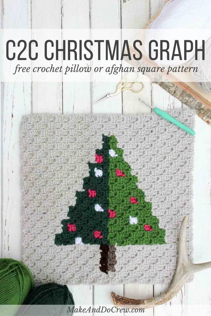 Corner To Corner Crochet Christmas Tree - Free Pattern - Free Printable Christmas Crochet Patterns