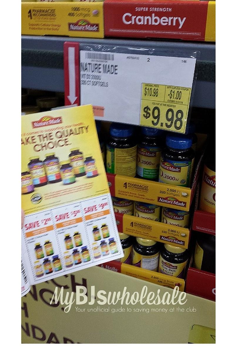 Coupon Stack- Save On Nature Made Vitamins At Bj's   My Bjs - Free Printable Nature Made Vitamin Coupons