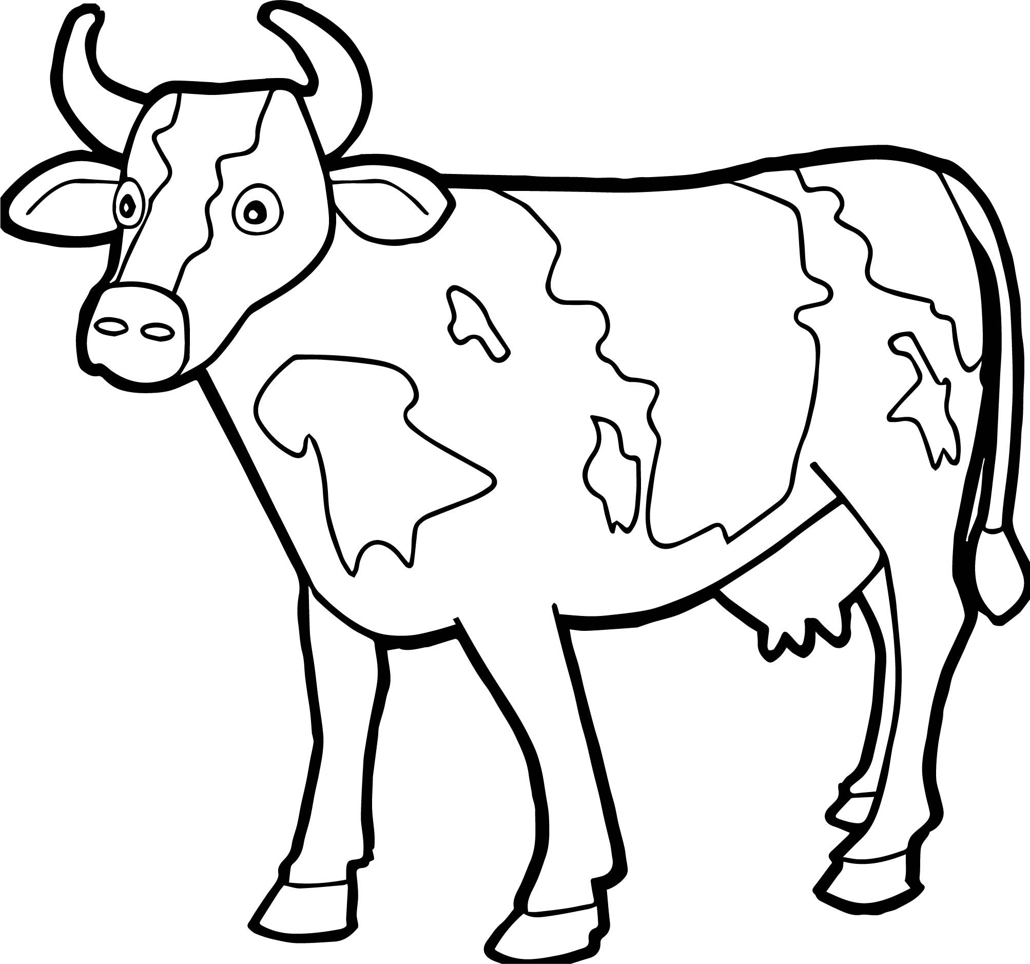 Cow Coloring Pages Of | Coloring Pages - Coloring Pages Of Cows Free Printable