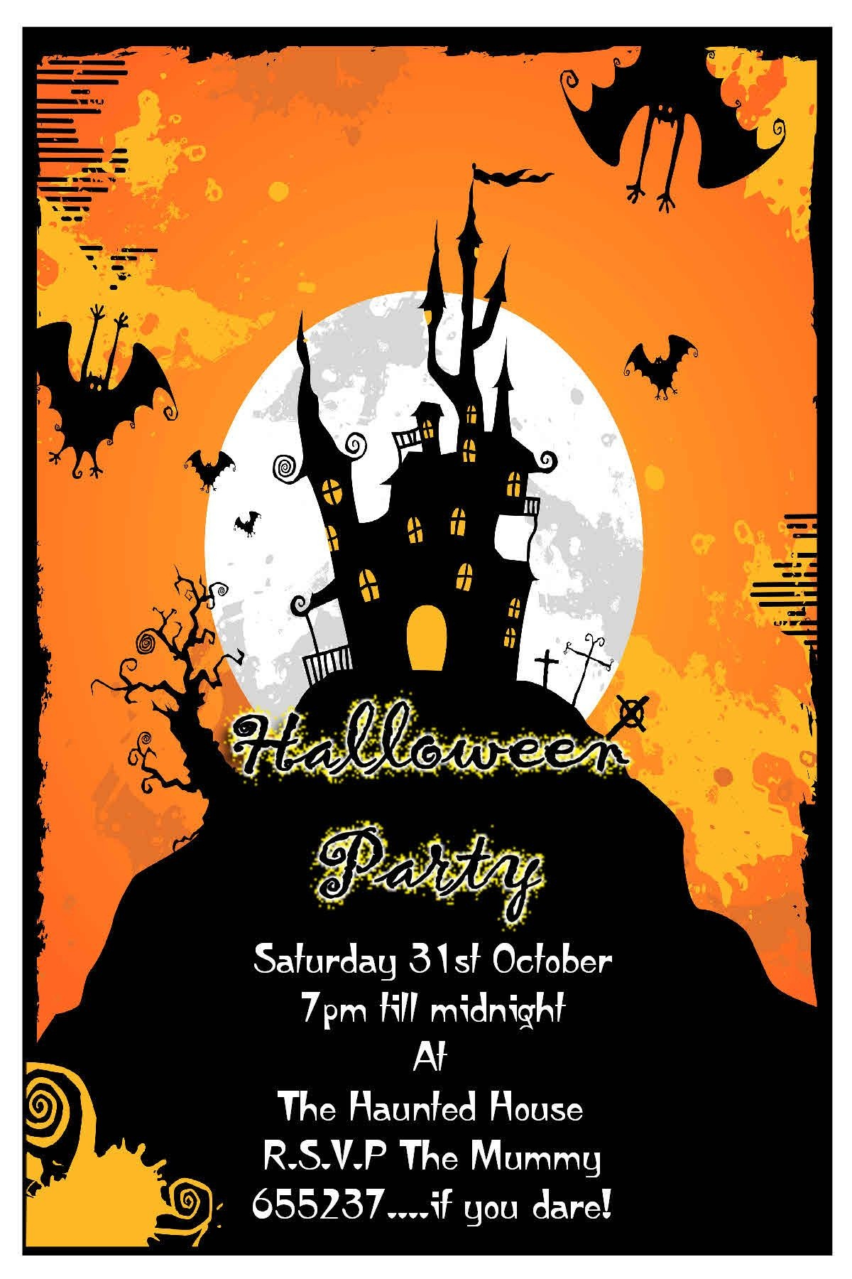 Create Halloween Invitations Free - Tutlin.psstech.co - Free Online Halloween Invitations Printable
