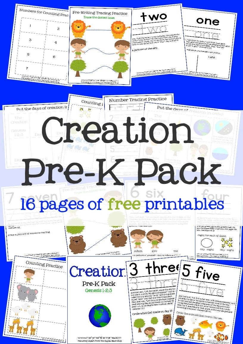 Creation Bible Story For Preschoolers Activity Pack – Mary Martha Mama - Free Printable Stories For Preschoolers