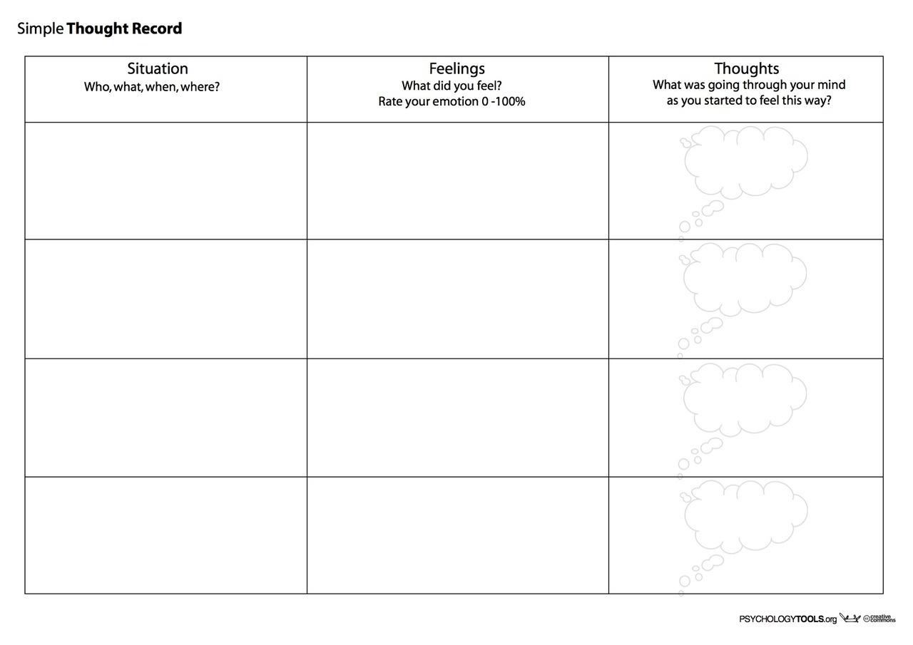 Creative Clinical Social Worker: Downloadable Cognitive Behavioral - Free Printable Therapy Worksheets