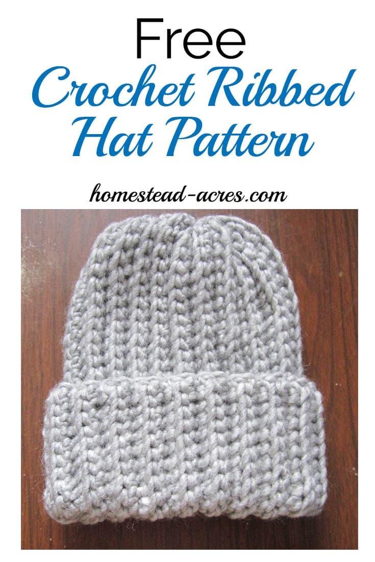 Crochet Ribbed Hat Pattern - Homestead Acres - Free Printable Pilgrim Hat Pattern