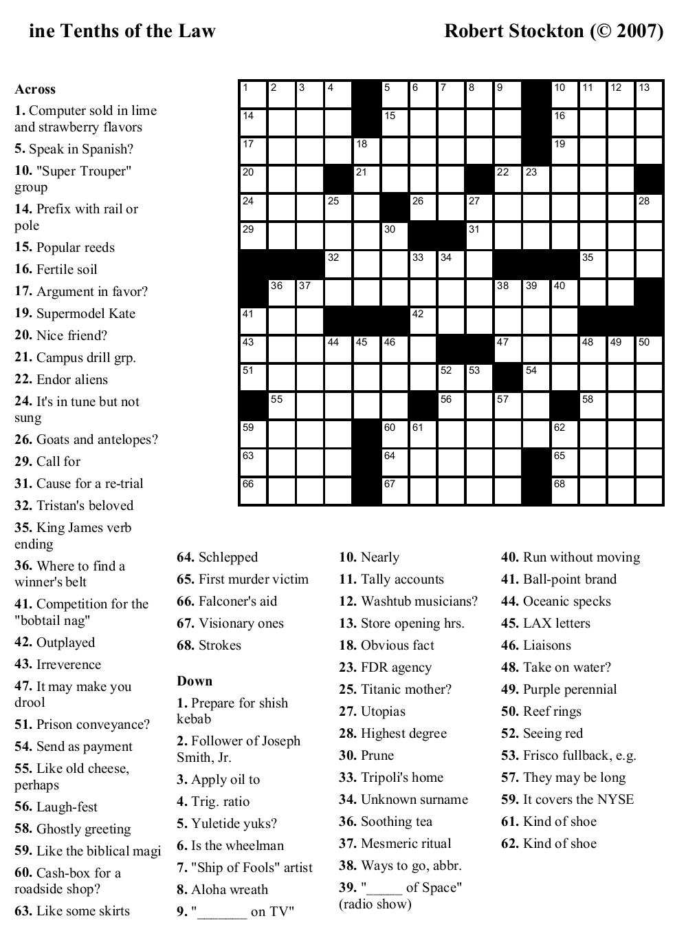 Crossword Puzzles Printable - Yahoo Image Search Results | Crossword - Free Printable Crosswords Usa Today