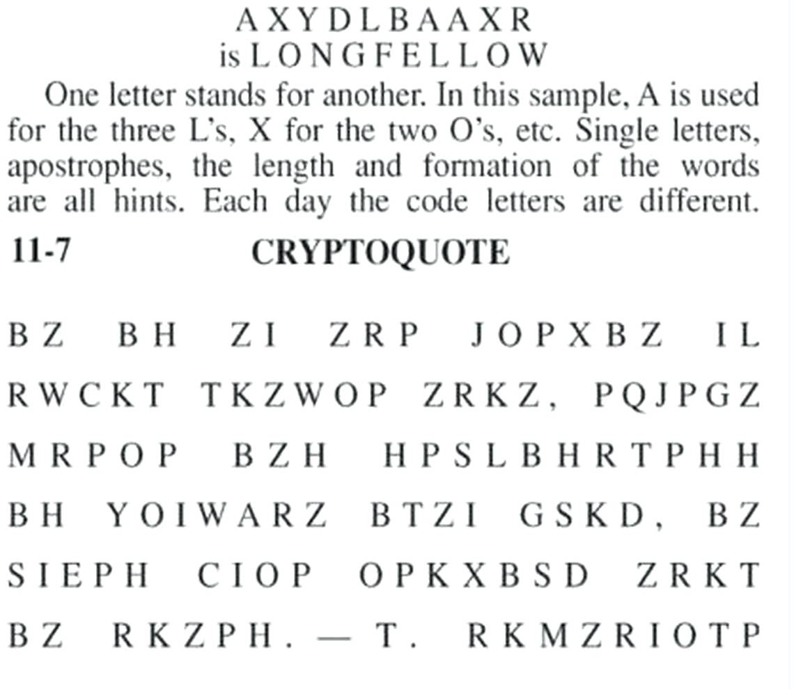 Cryptoquip Printable - Masterprintable - Free Printable Cryptoquip Puzzles