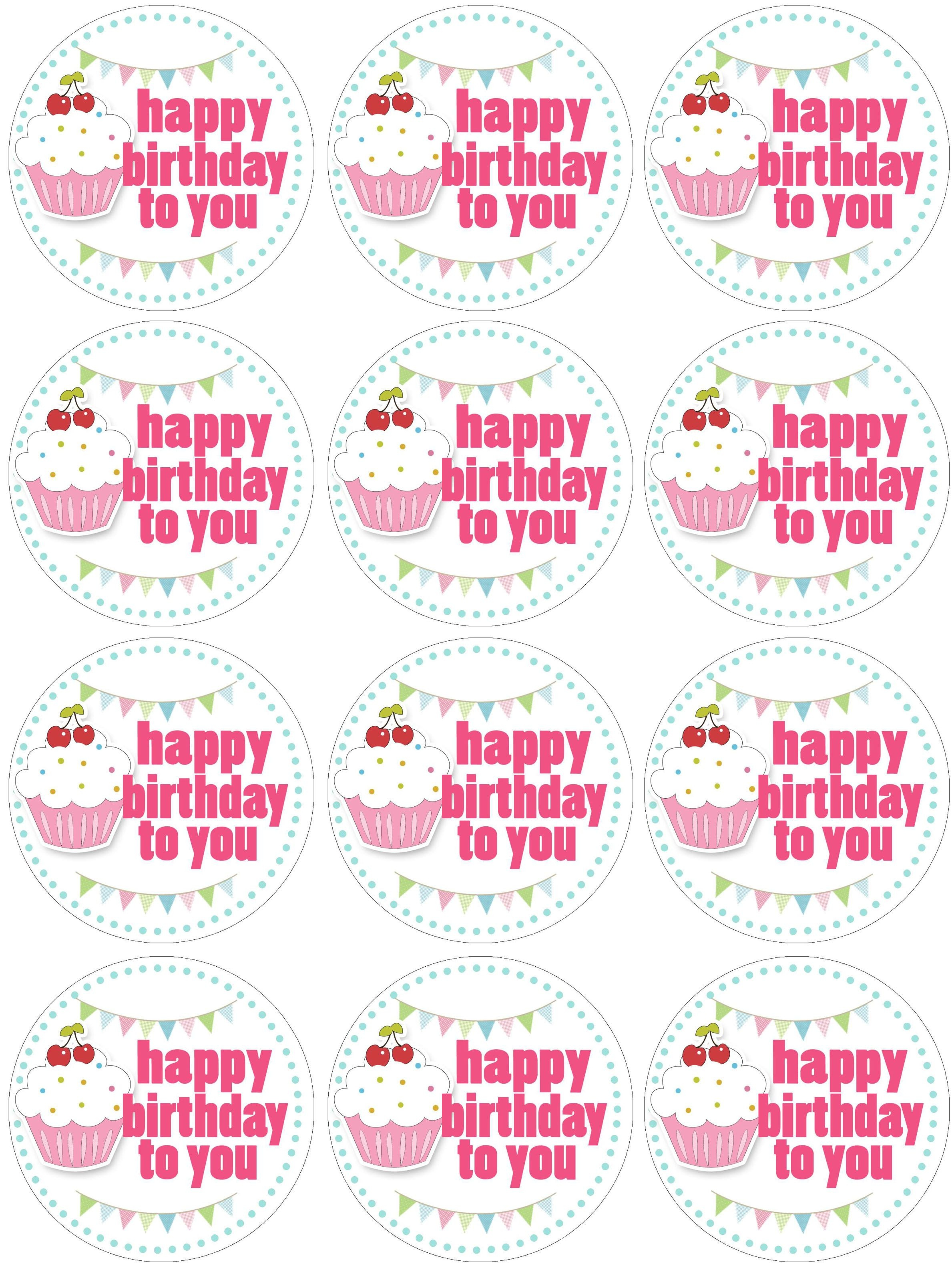 Cupcake Birthday Party With Free Printables | Free Printables - Cupcake Topper Templates Free Printable