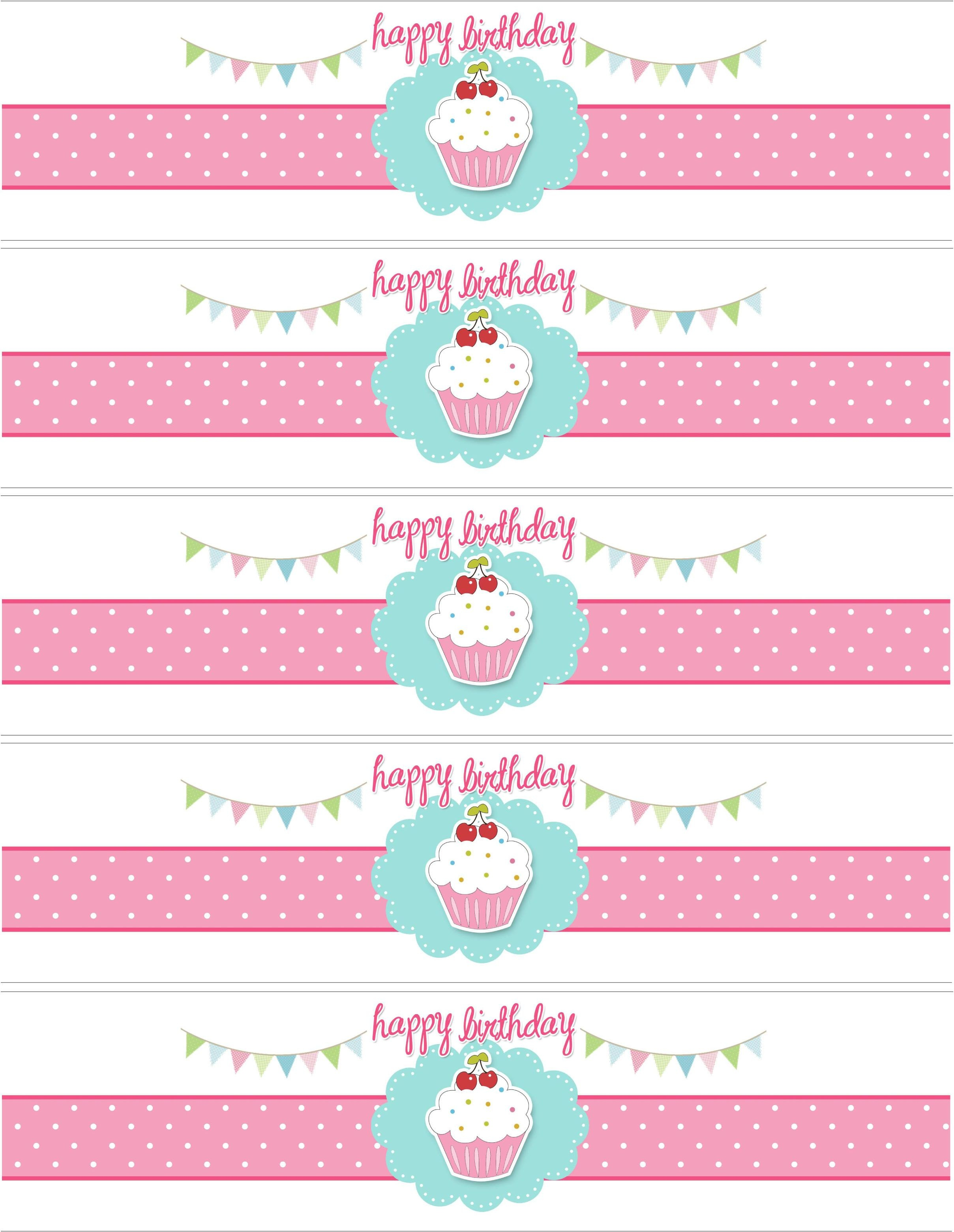 Cupcake Birthday Party With Free Printables | Party Ideas - Free Printable Water Bottle Labels For Birthday