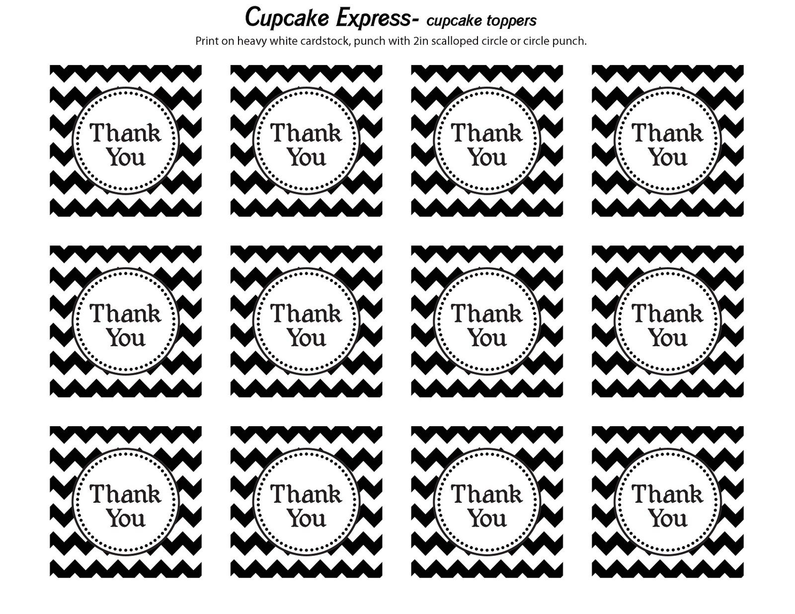 Cupcake Express: Happy Monday!! Free Thank You Tags | Dads 60Th - Thank You For Coming Free Printable Tags