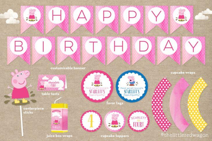 Peppa Pig Birthday Banner Printable Free