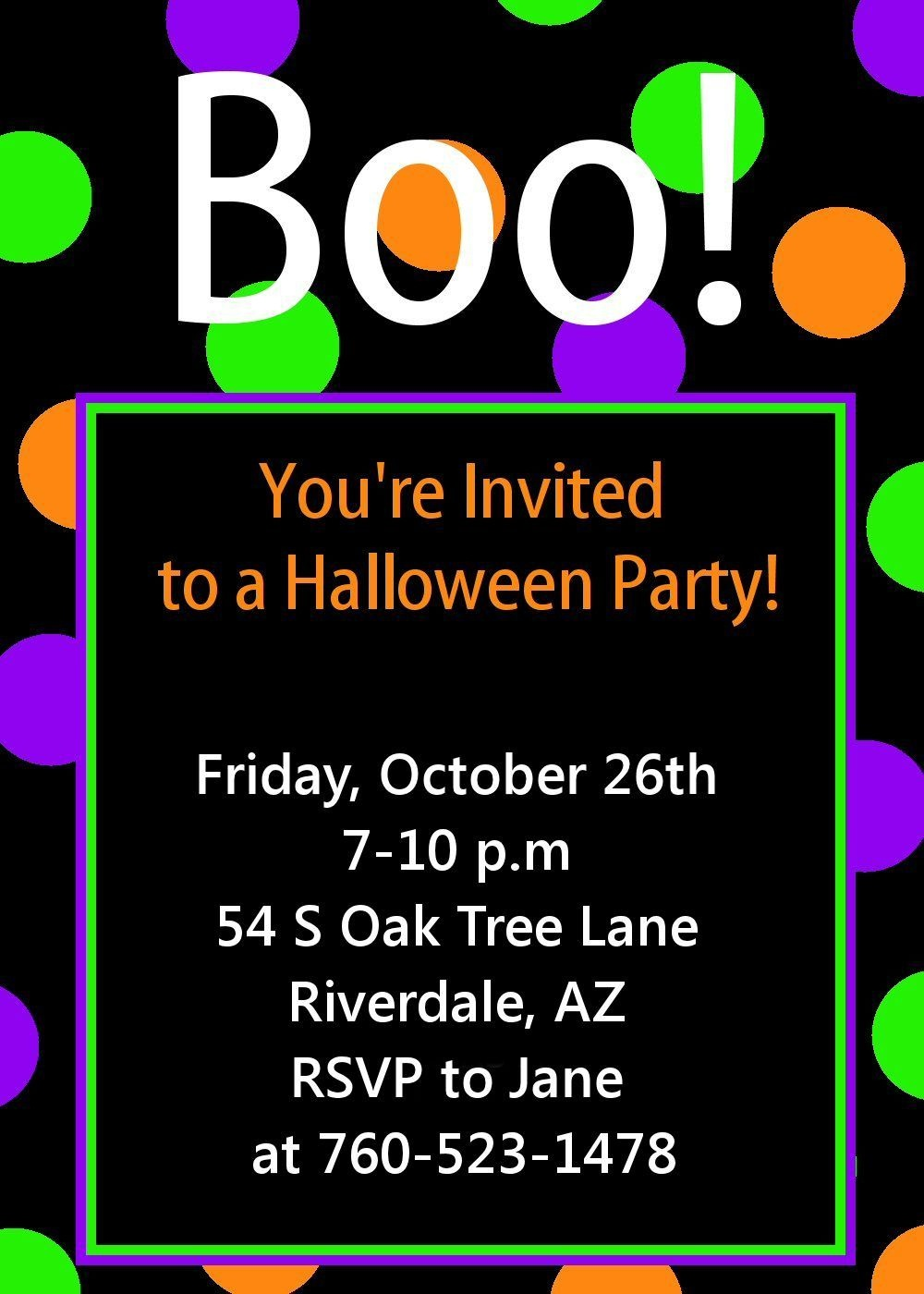 Cute Free Printable Halloween Invitations | Halloween Goodies - Free Printable Halloween Birthday Party Invitations