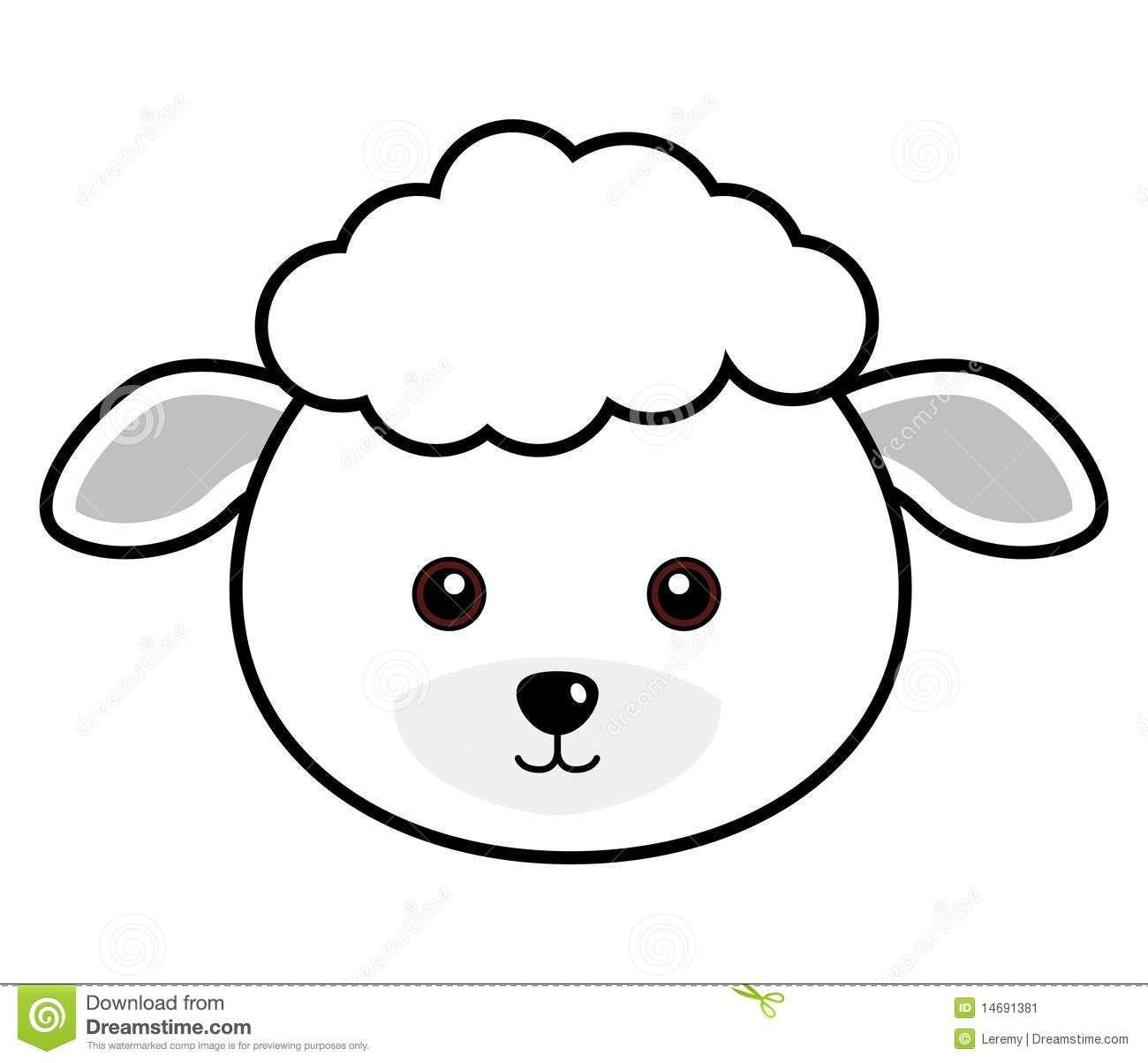 Cute Sheep Face | Plaasdiere | Sheep Face, Sheep Crafts, Face Template - Free Printable Sheep Mask