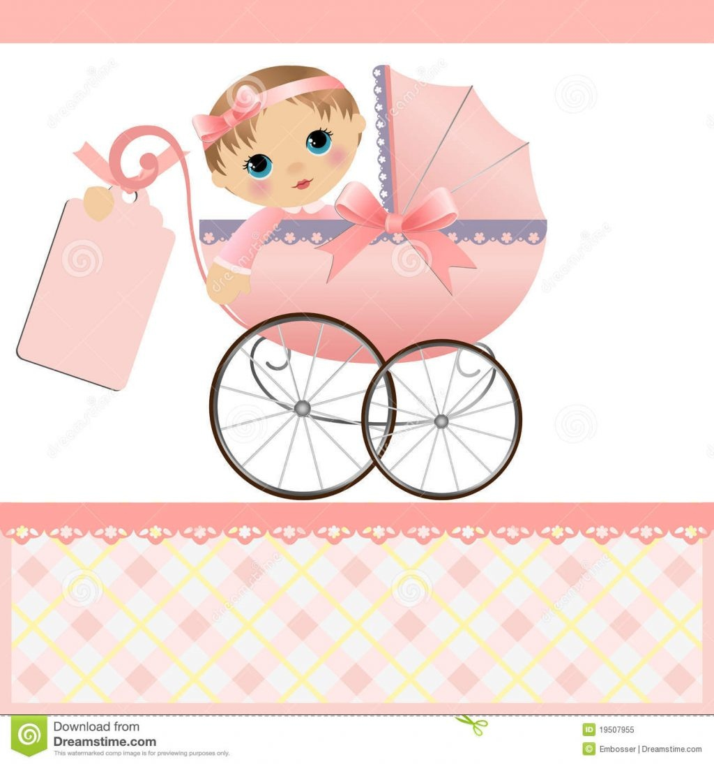 Cute Template For Baby Card Stock Vector Illustration Of Dedication - Free Printable Baby Cards