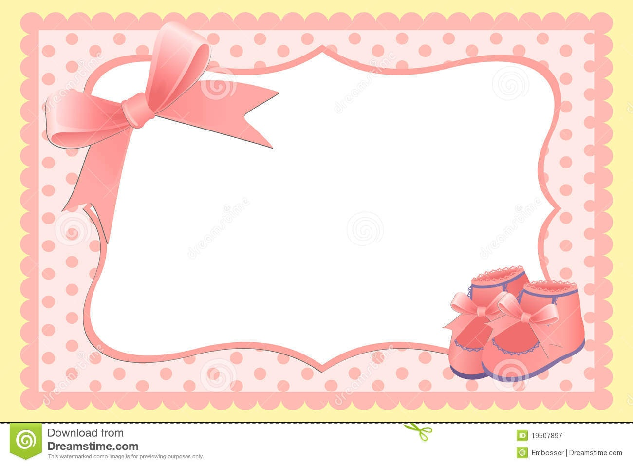 Cute Template For Baby's Card Stock Vector - Illustration Of Holiday - Free Printable Baby Cards Templates