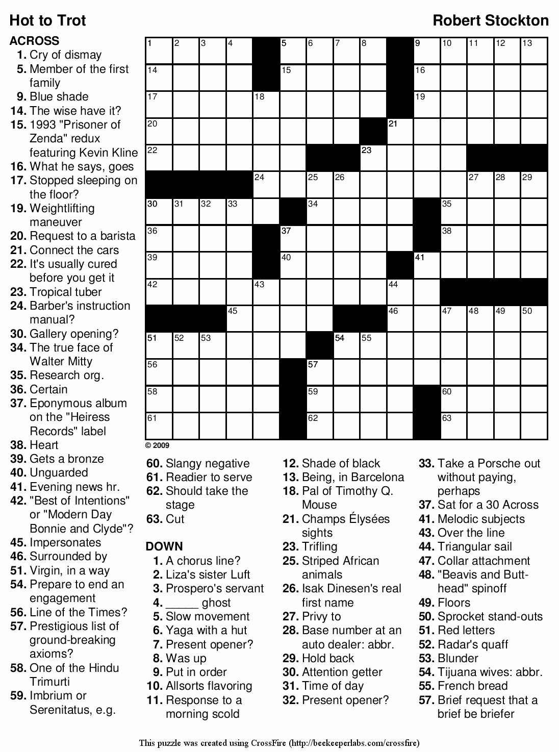 Daily Crossword Puzzle Printable – Rtrs.online - Free Printable Crosswords Medium