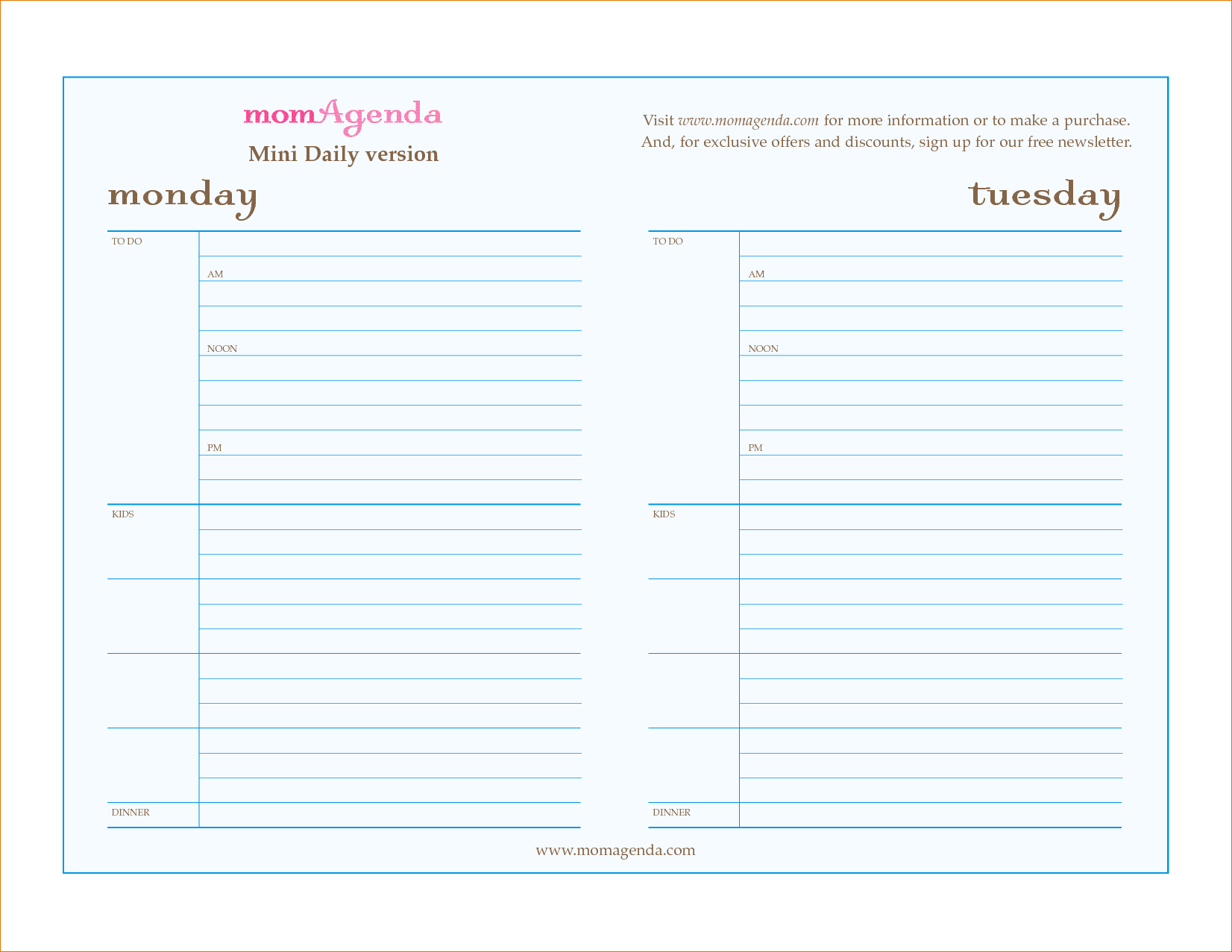 Daily Planner Template Word Free Printable Appointment Pages - Free Printable Appointment Sheets