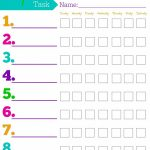 Daily Responsibilities Chart For Kids! Free Printable To Help   Free Printable Charts For Kids