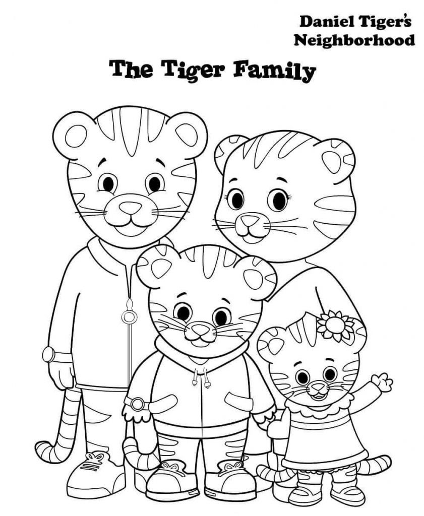Daniel Tiger Family Coloring Pages   Printables For Kids In 2019 - Free Printable Daniel Tiger Coloring Pages