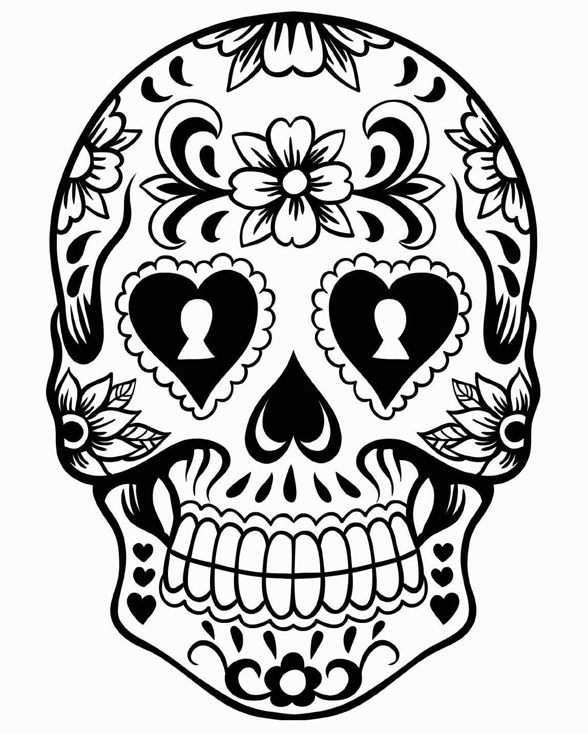 Day Of The Dead Coloring Pages Free Printable Day Of The Dead - Free Printable Day Of The Dead Coloring Pages