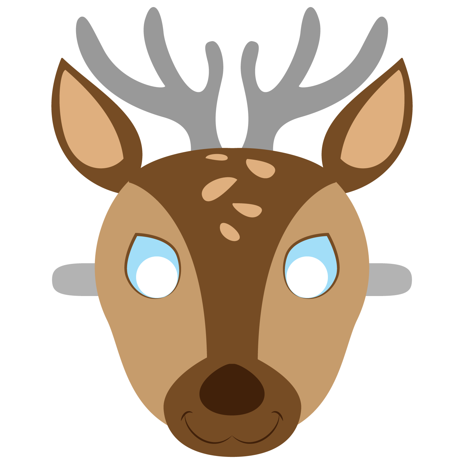 Deer Mask Template | Free Printable Papercraft Templates | Camping - Free Printable Wolf Mask