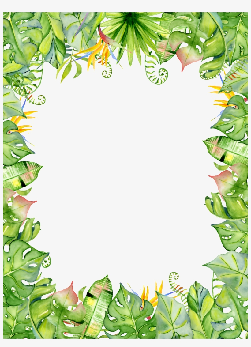Design Summer Travel Poster Border Png Transparent - Acuarela - Free Printable Summer Borders