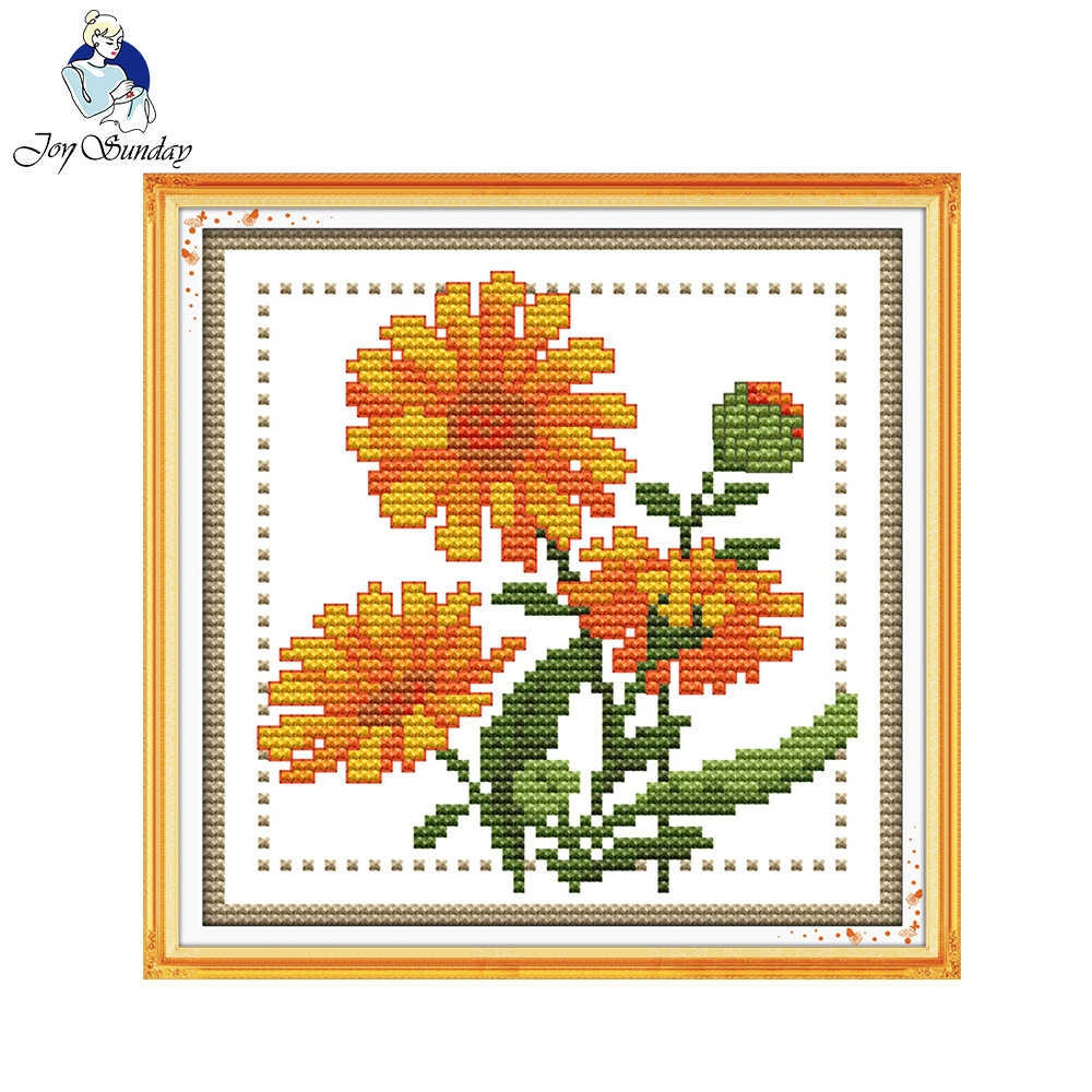 Detail Feedback Questions About Joy Sunday Floral Style Twelve - Free Printable Cross Stitch