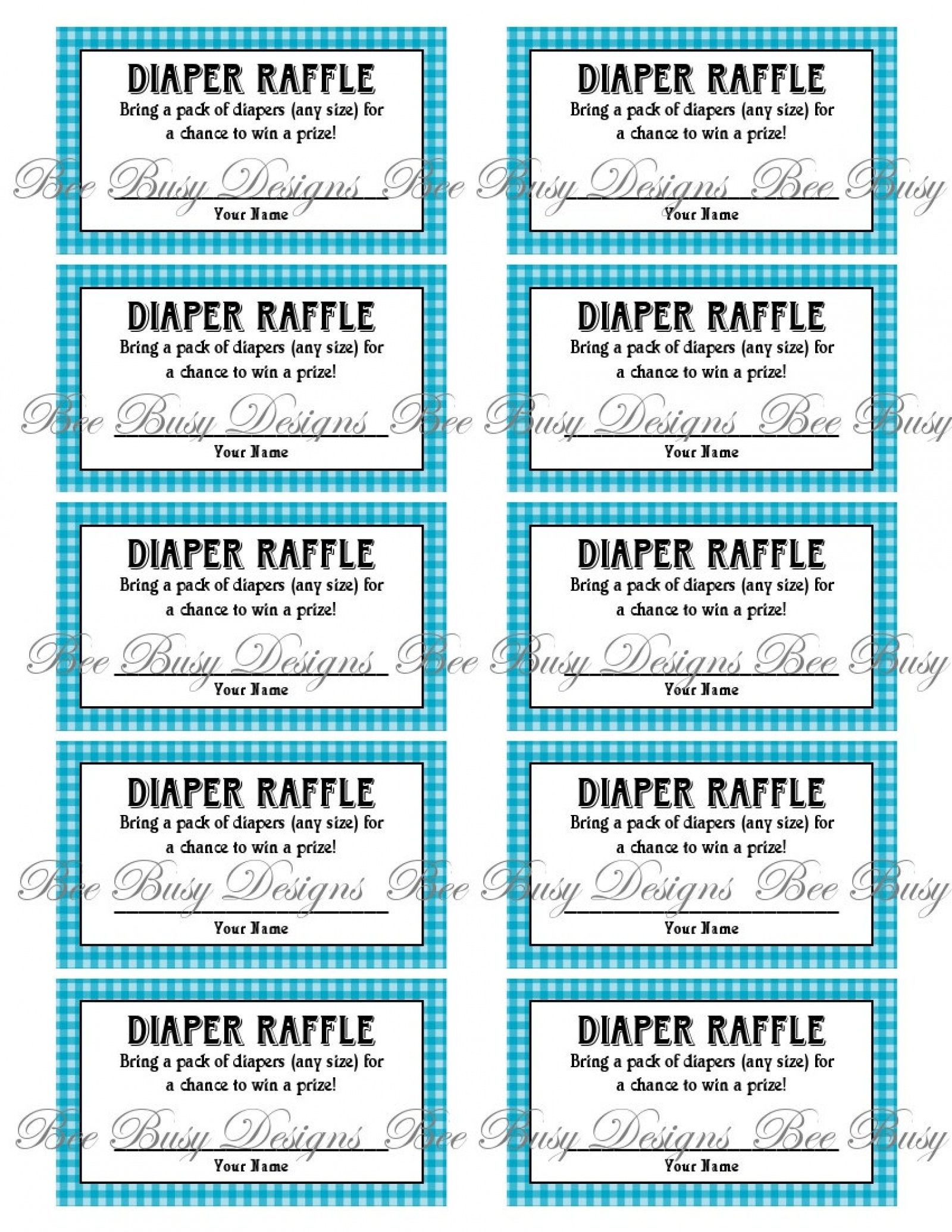 Diaper Raffle Tickets Printable - Tutlin.psstech.co - Free Printable Baby Shower Diaper Raffle Tickets