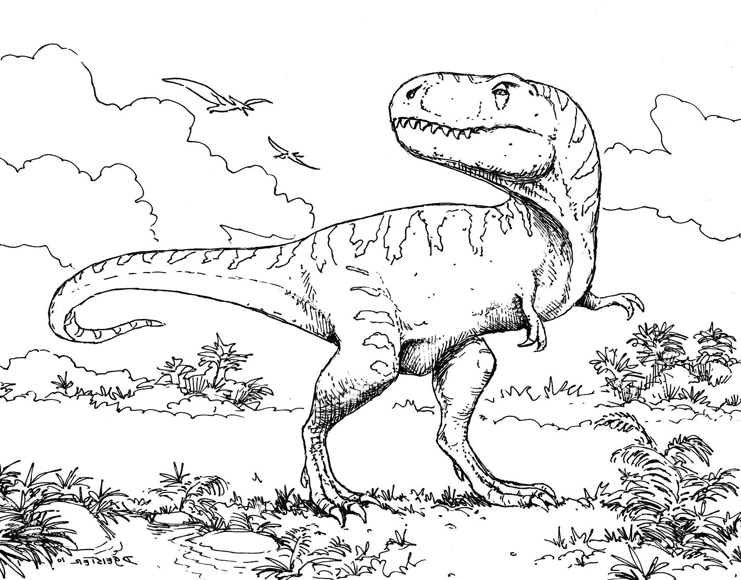 Dinosaur Coloring Pages To Print At Getdrawings | Free For - Free Printable Dinosaur Coloring Pages