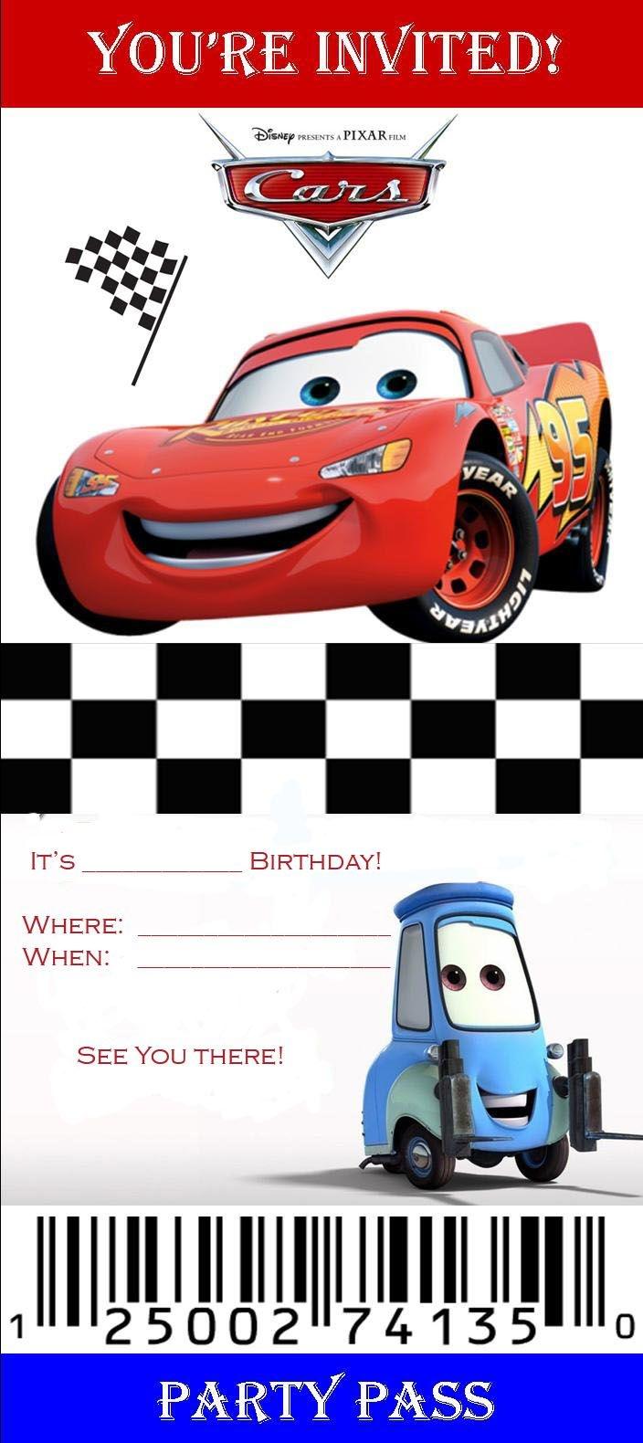 Disney Cars Birthday Invitations Templates   Kaiden's Bday   Cars - Free Printable Disney Cars Birthday Party Invitations