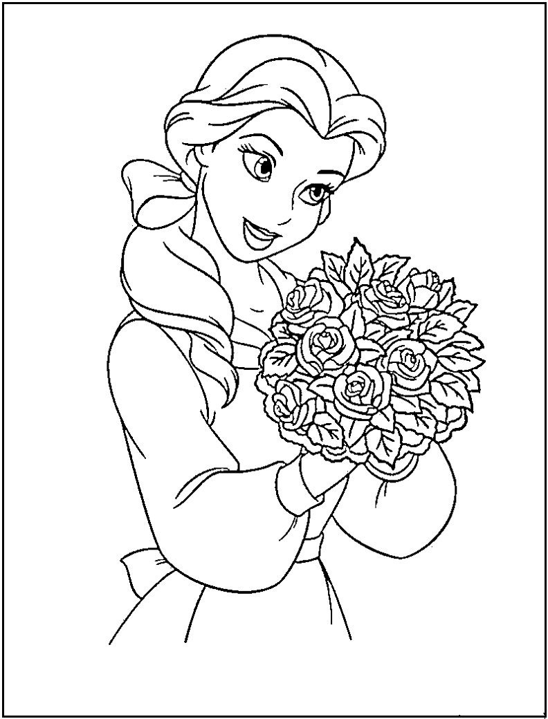 Disney Princess Belle Coloring Pages Printable | Coloring For Gracey - Free Printable Coloring Pages Of Disney Characters