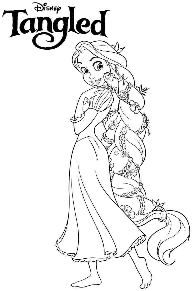 Disney Princess Tangled Rapunzel Coloring Pages Free Printable For - Free Printable Tangled