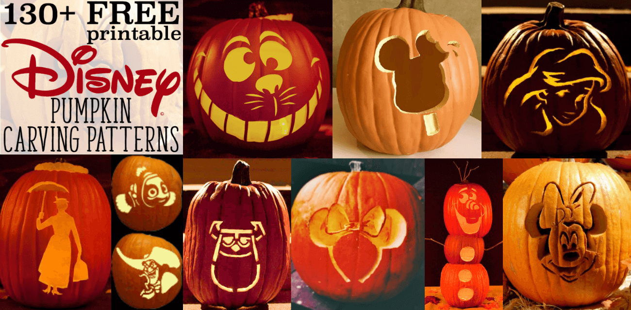 Disney Pumpkin Stencils: Over 130 Printable Pumpkin Patterns - Free Printable Pumpkin Stencils