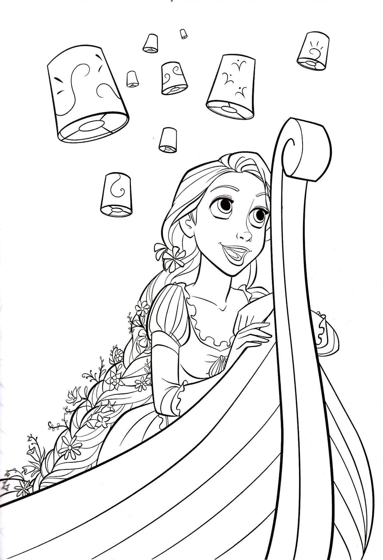 Disney Rapunzel Coloring Pages Free Printable Disney Princess - Free Printable Tangled