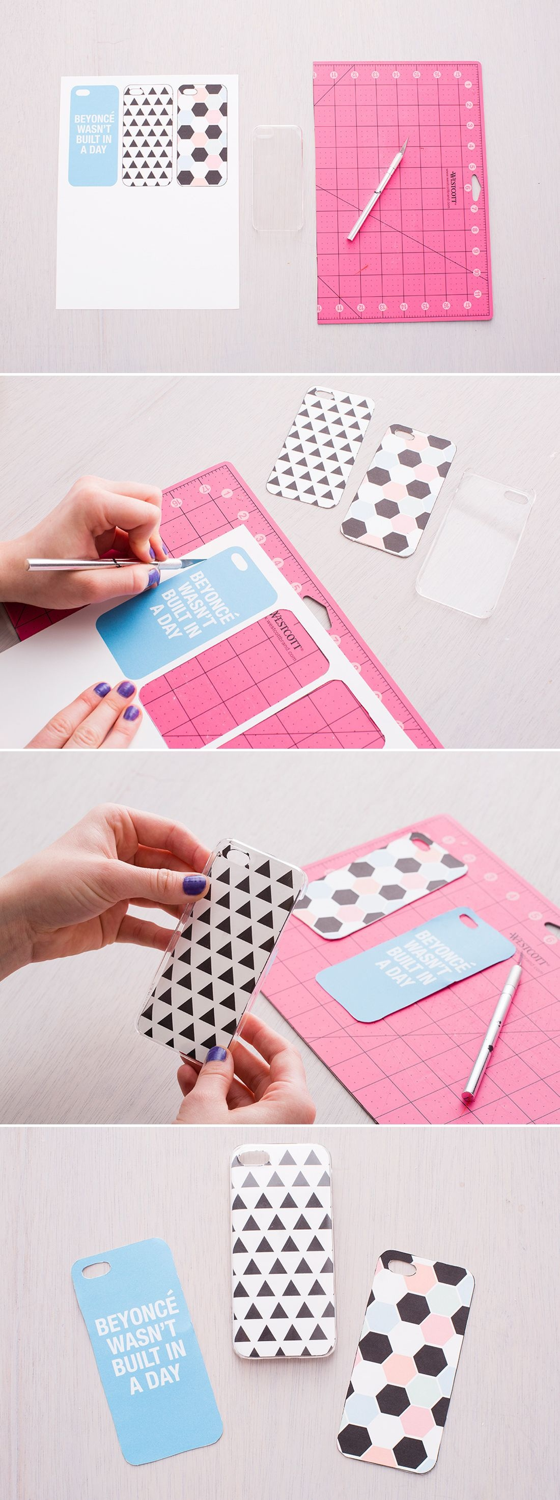 Diy A New Iphone Case With These Free Printables. | Crafts, Projects - Free Printable Iphone Skins