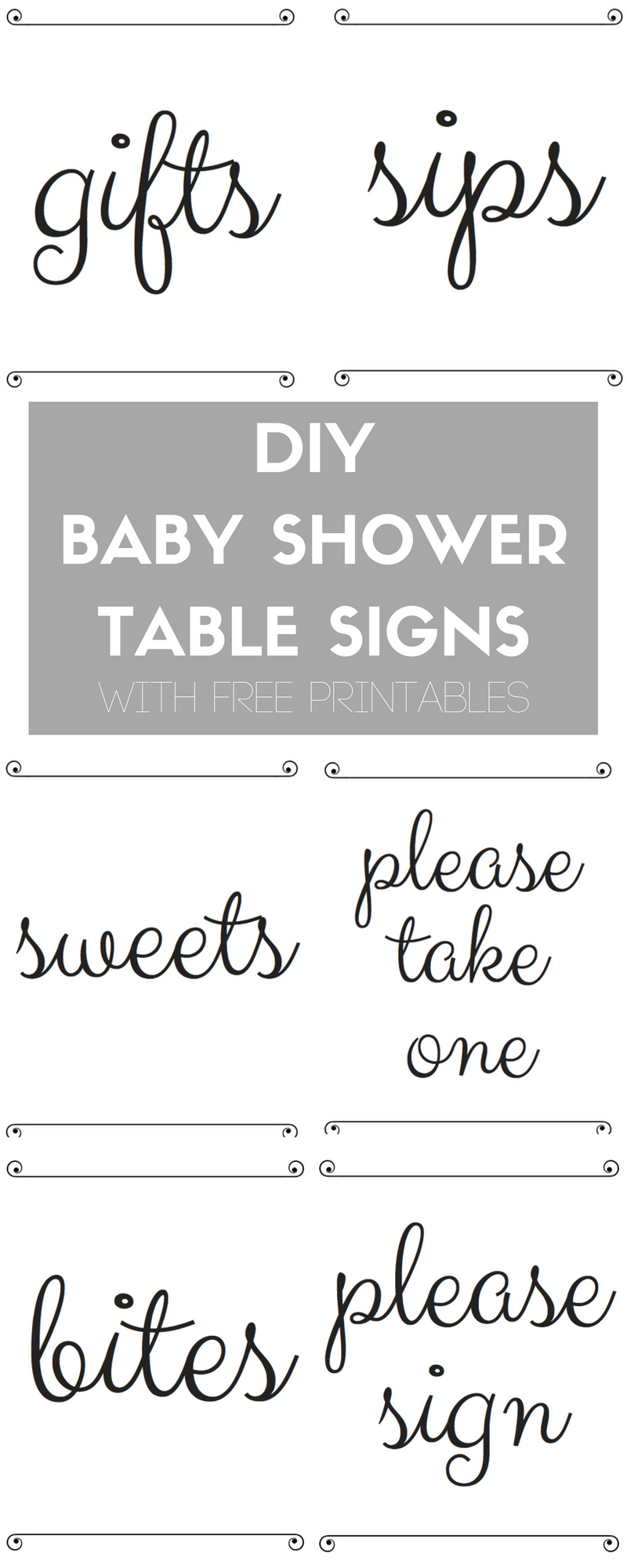 Diy Baby Shower Table Signs With Free Printables | Best Of The Blog - Free Printable Baby Shower Table Signs