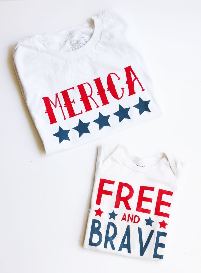Diy Fourth Of July Shirts   Ksw & Co. Crafts   Fourth Of July Shirts - Free Printable Iron On Transfers For T Shirts