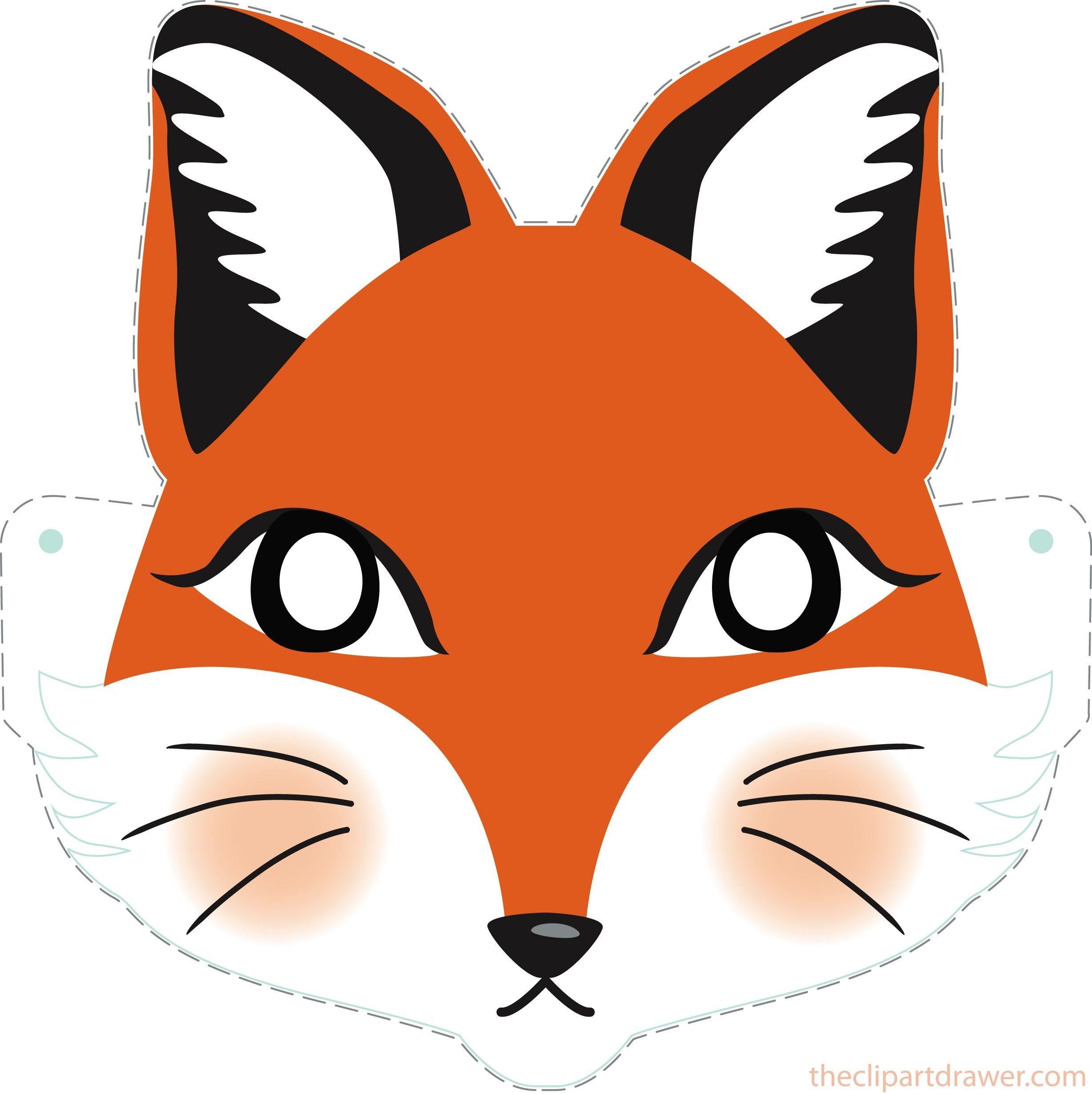Diy Fox Printable Mask For Kids - Clipart Drawer   Diy   Printable - Free Printable Fox Mask Template