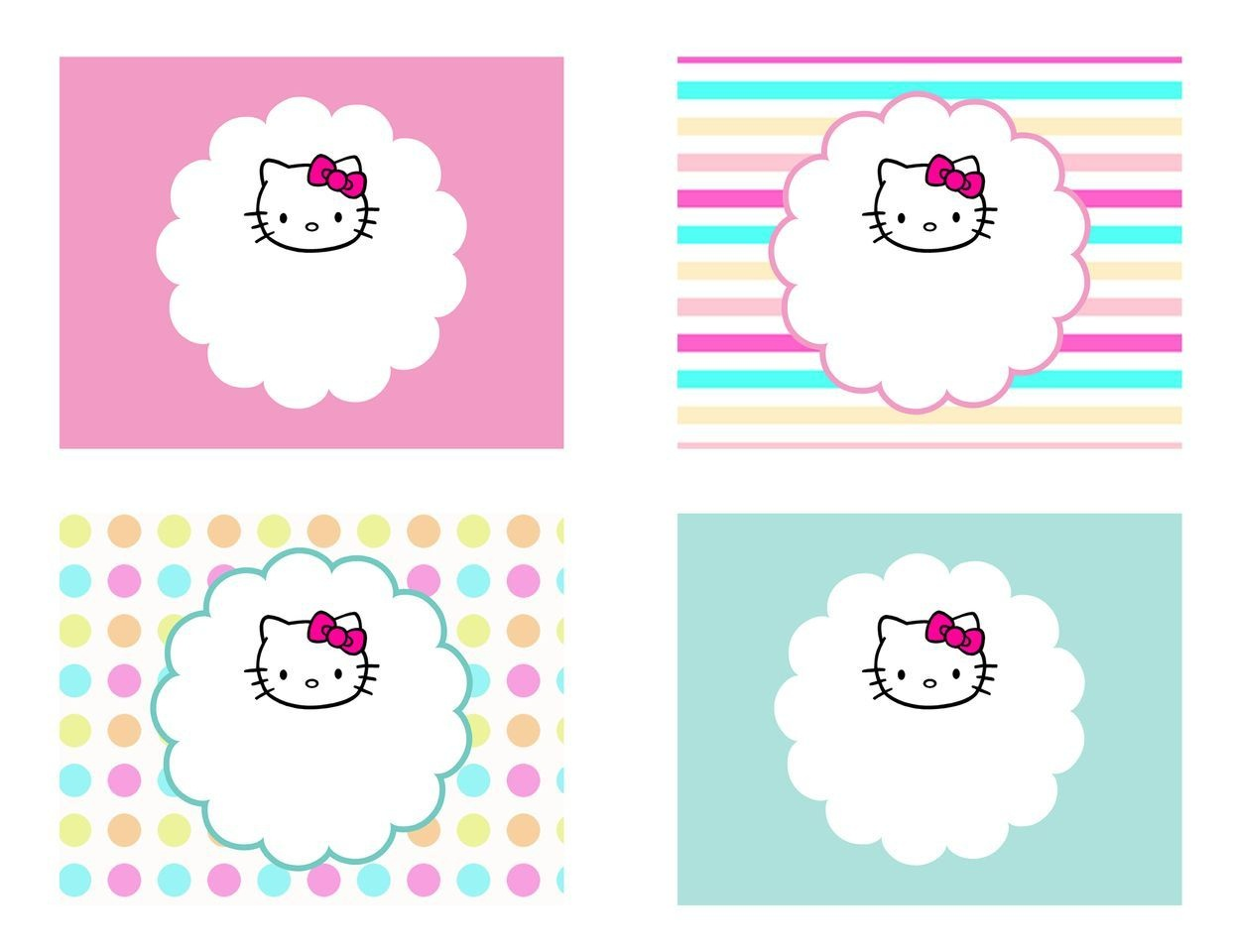 Diy Free Hello Kitty Label | Free Birthday Party Decorations | Hello - Hello Kitty Name Tags Printable Free