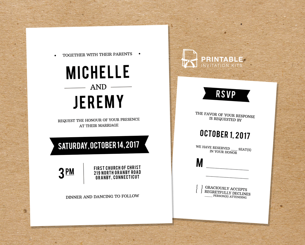 Diy Free Pdf Printable Wedding Invitation And Rsvp | Wedding - Free Printable Rsvp Cards