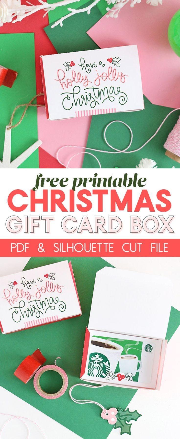 Diy Gift Card Box - Free Printable Gift Idea For Christmas   Persia - Free Printable Christmas Gift Cards