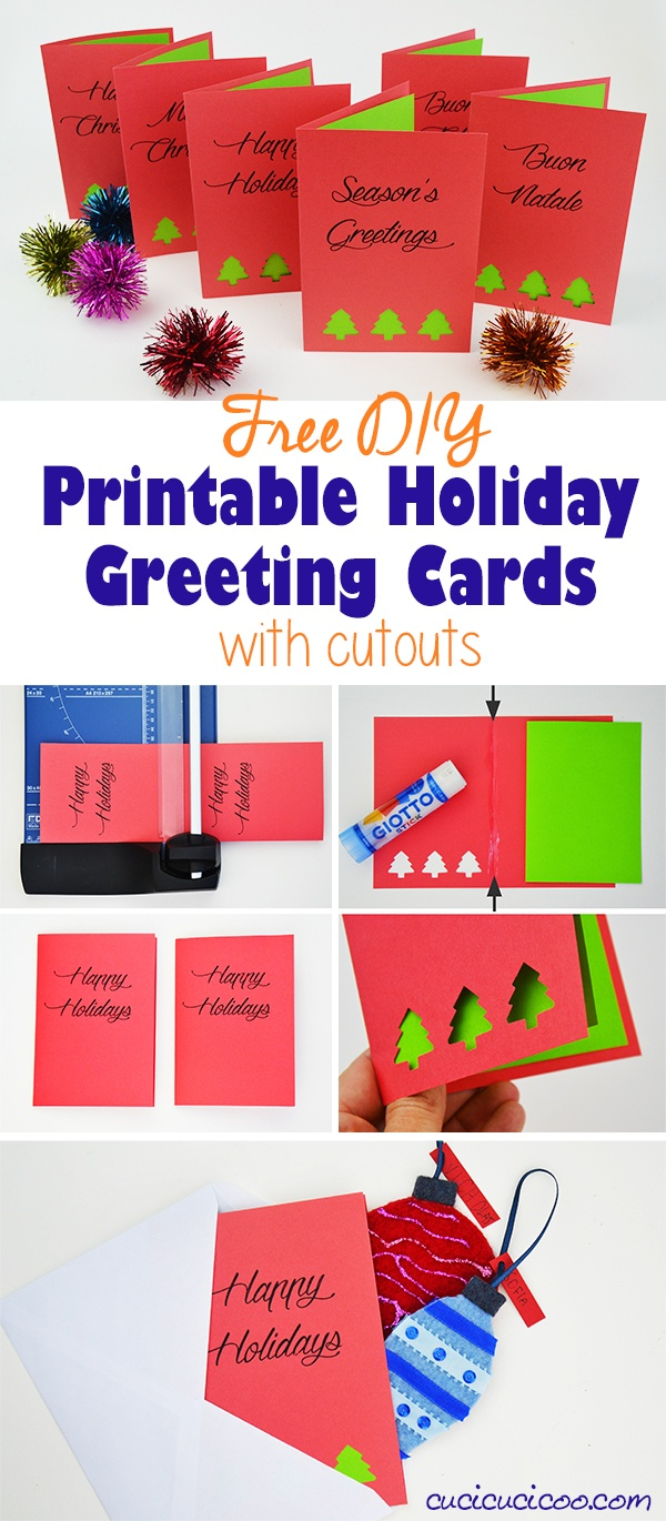 Diy Greetings: Free Printable Holiday Cards With Cutouts - Cucicucicoo - Free Printable Christmas Cutouts