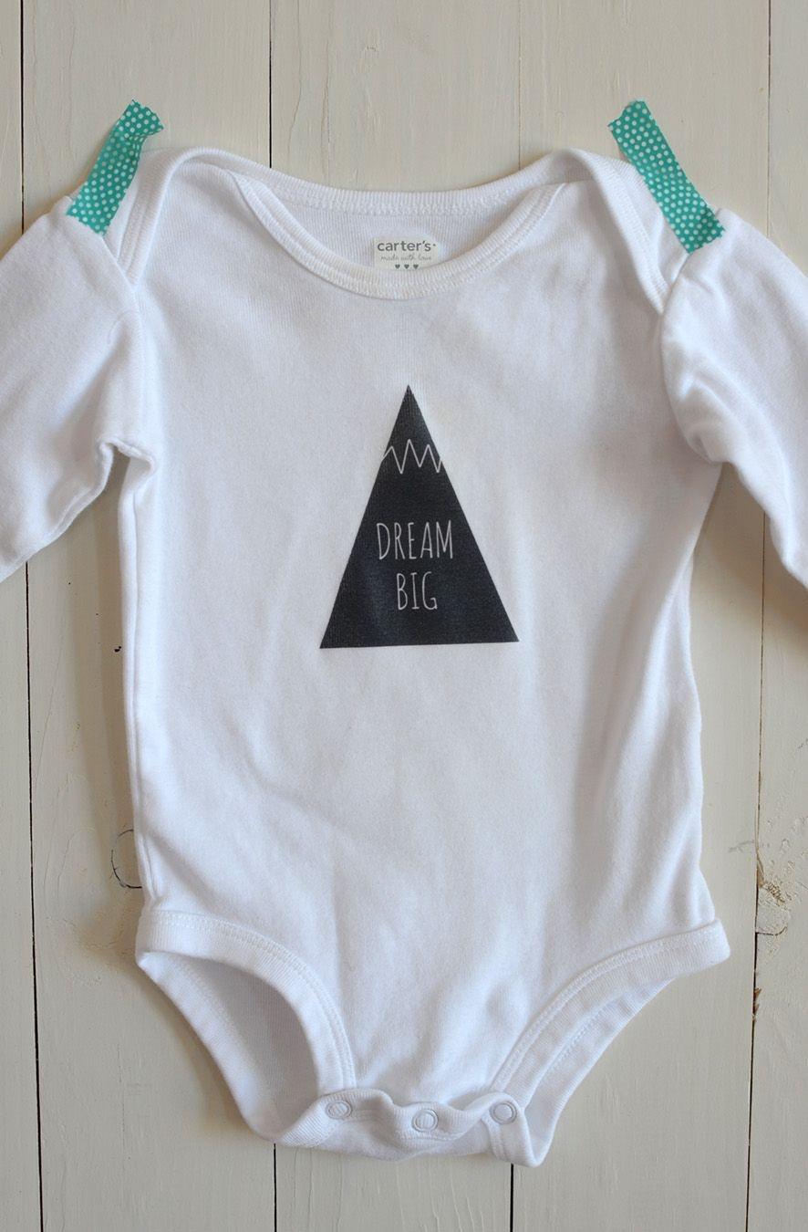 Diy Iron-On Graphic Onesie | Crafty Diy | Onesies, Baby Patterns - Free Printable Onesies