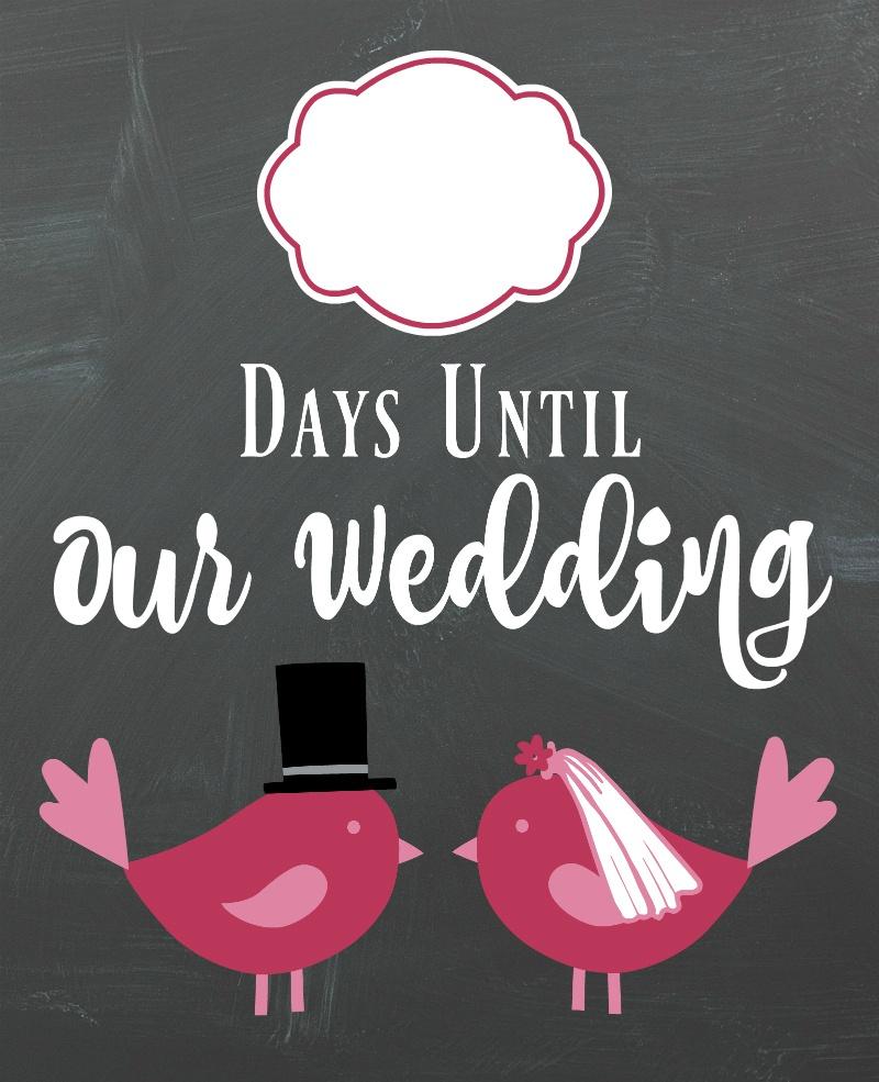 Diy Lovebirds Wedding Countdown Sign | A Bride On A Budget - Free Printable Wedding Countdown