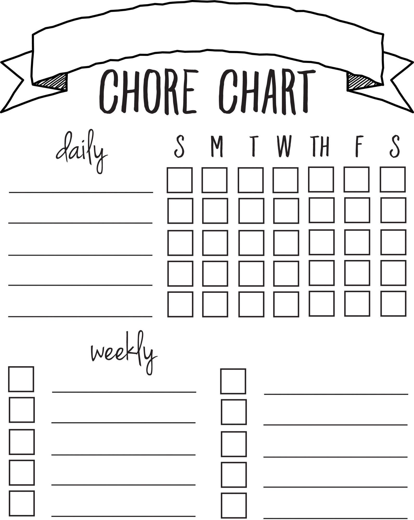 Diy Printable Chore Chart | Free Printables Nov/feb | Chore Chart - Free Printable Charts And Lists